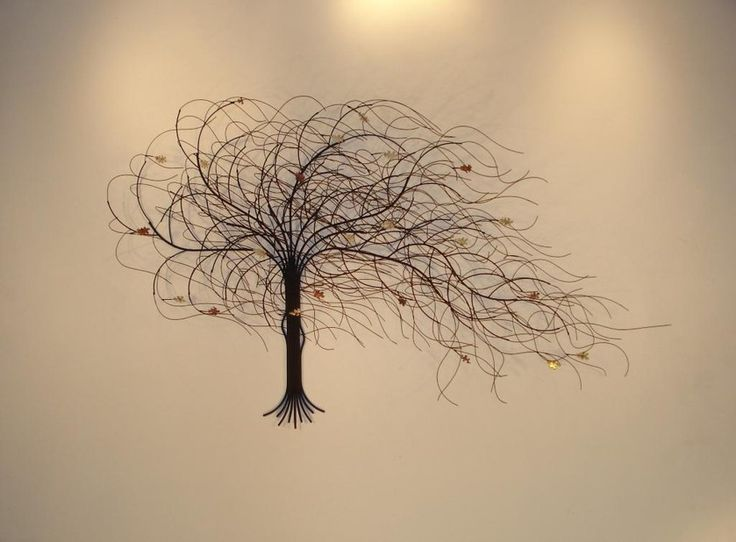 September Tree Metal Wall Sculpture