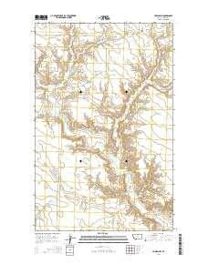 ~ Harlem NW MT topo map, 1:24000 scale, 7.5 X 7.5 Minute, Current, 2014