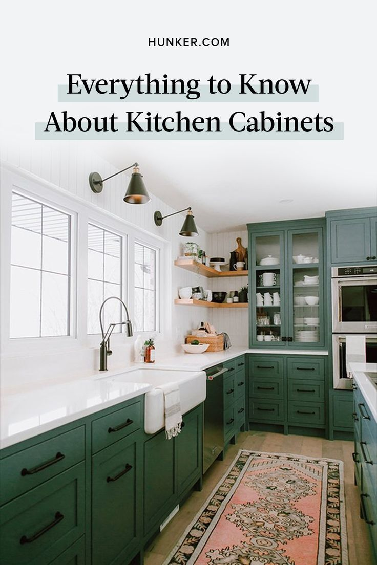 Your Kitchen Cabinet Design Will Tie The Whole Room Together And Be The First Thing Most Peopl Green Kitchen Cabinets Diy Kitchen Renovation Kitchen Renovation Bold kitchen paint colors