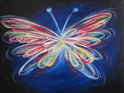 Neon Butterfly -Painting With A Twist