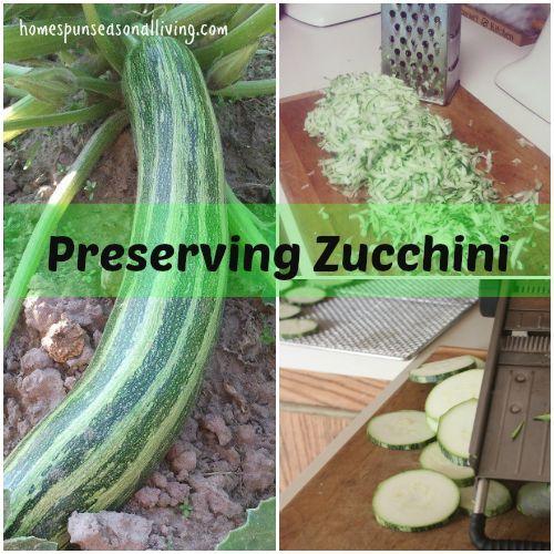 Preserving Zucchini - Homespun Seasonal Living