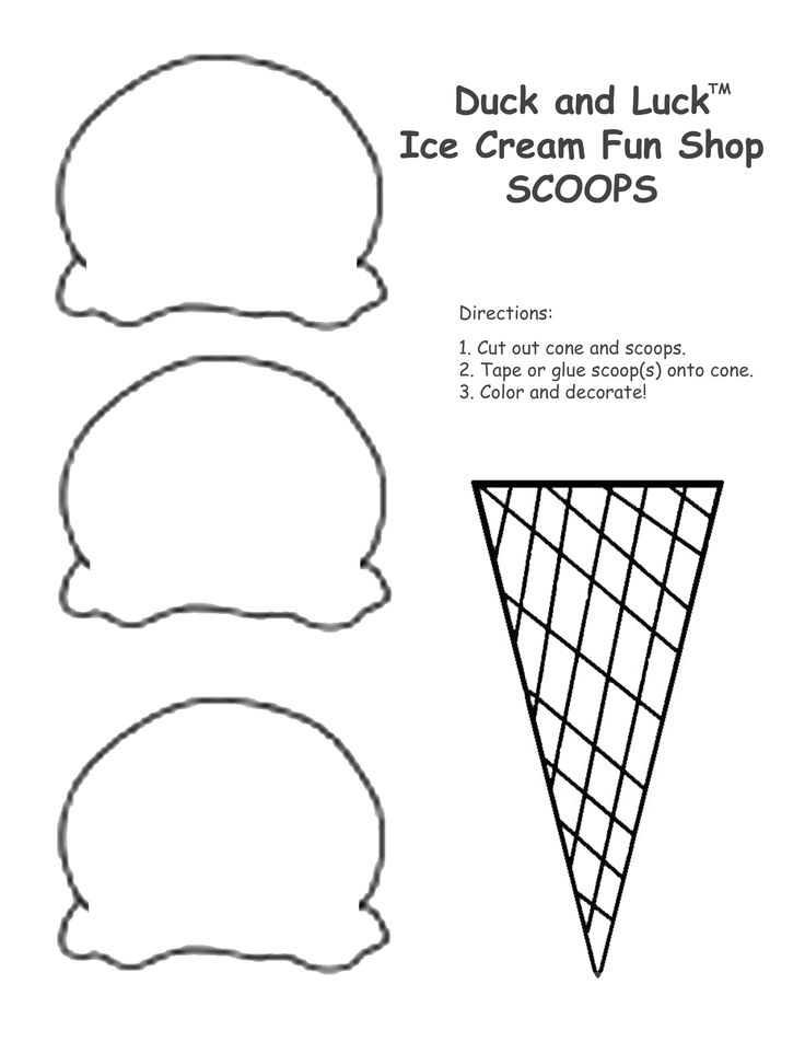 Duck and luck ice cream scoops 2550 3300 for Make a coloring page out of a photo
