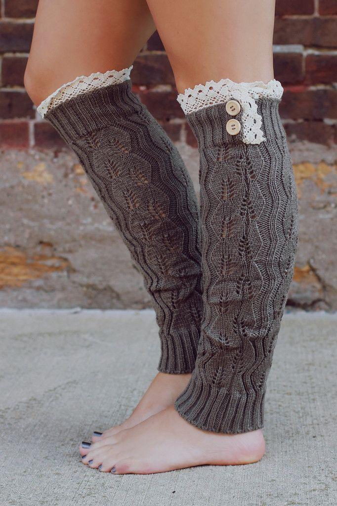Knit Crochet Top Leg Warmers