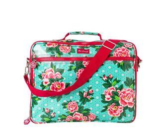 Lou Harvey - Laptop Bag - Peony - Aqua
