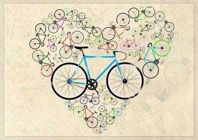 I Love My Bike Art Print...i so want want one.