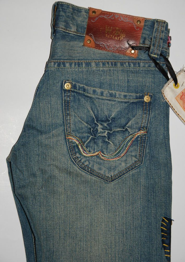— UNIQUE WE ARE REPLAY JEANS WV2070 HAND CRAFTED...