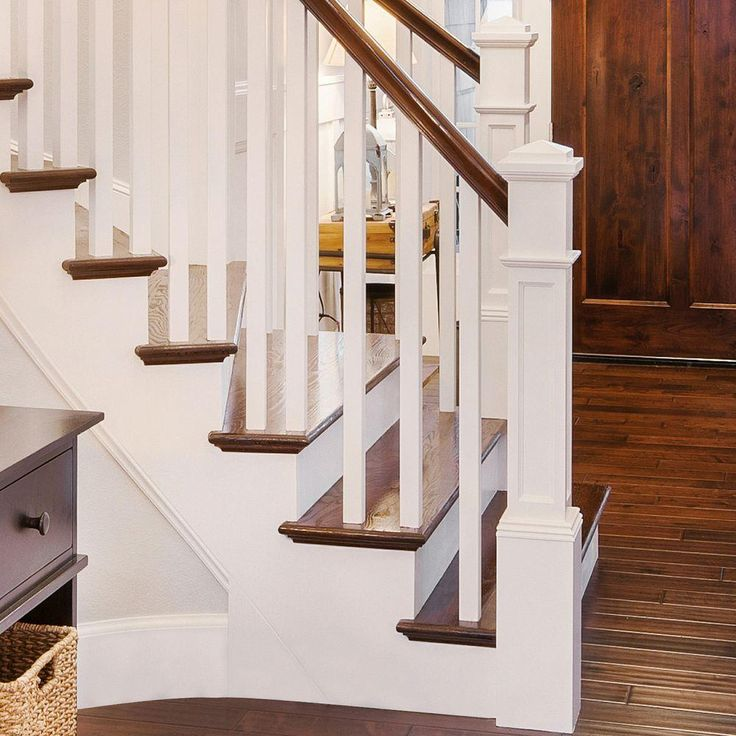 Beautiful Interior Staircase Ideas And Newel Post Designs: Stair Parts 4093 55 Oak Flat Panel Box Newel Post-4093R