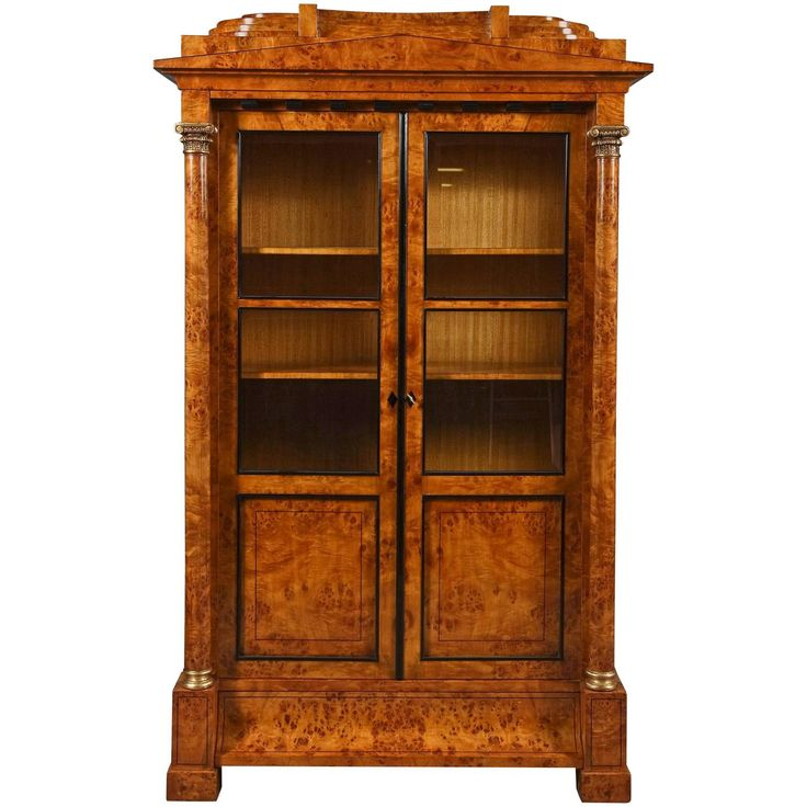 20th Century Biedermeier Style Vitrine Cupboard For Sale at 1stdibs