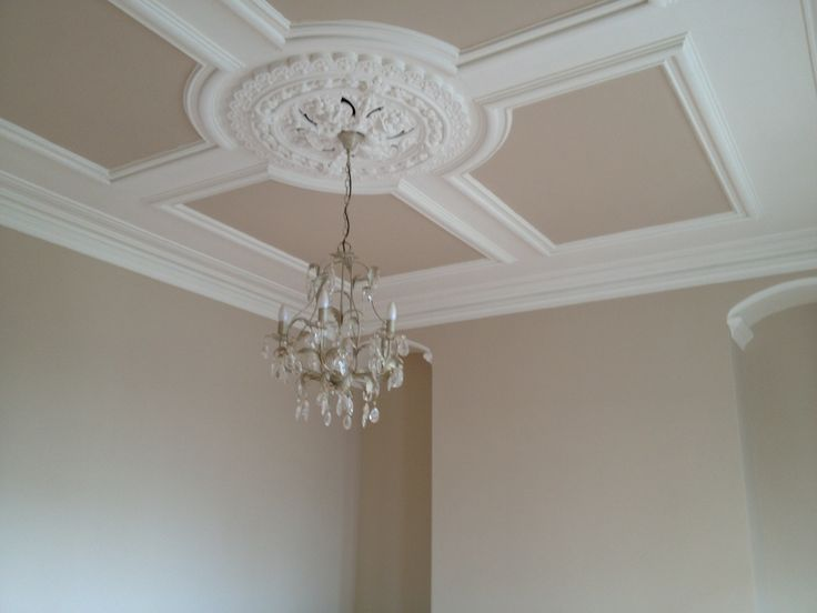Foyer Ceiling Roses : Victorian ceiling rose coving love it even more now