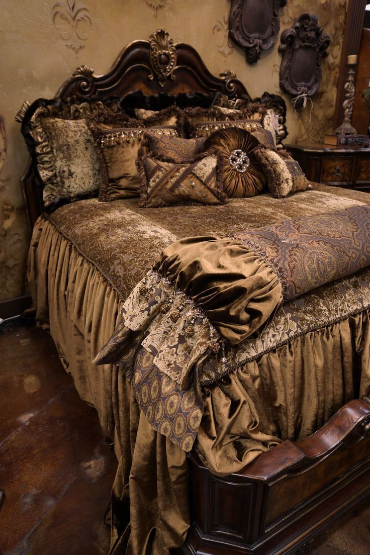 Stunning Tuscan Style Luxury High End Bedding By Reilly
