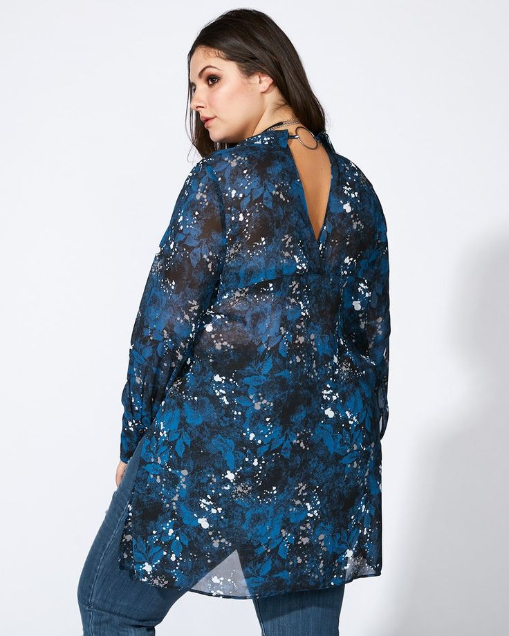 mblm - Printed Blouse with Back Detail