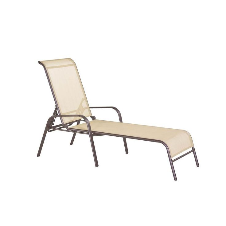 Steel Sling Patio Chaise Lounge-FLS00036G at The Home Depot