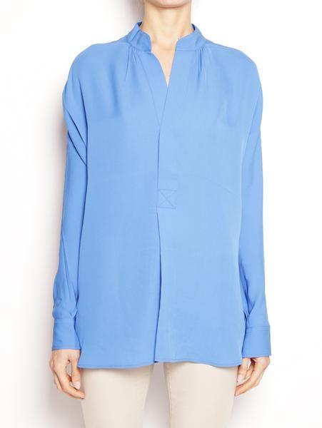 POLO RALPH LAUREN DONNA Blusa in seta scollo arrotondato V33XZ86PXY86P Bluette Camicie - TRYMEShop