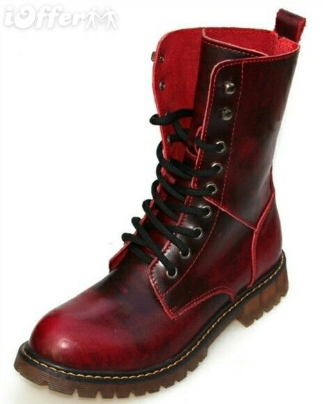 botas rojas militares hombre