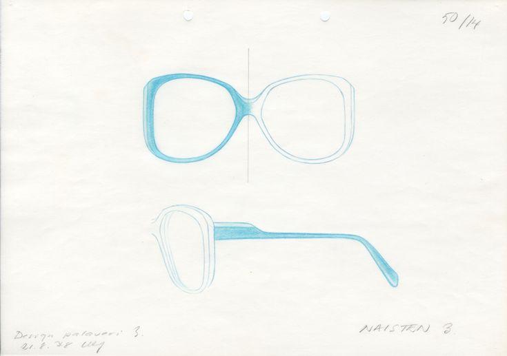 Ulla-Kirsti Junttila: Silmälasiluonnos / A draft of eyeglasses. Instrumentarium. (1978)