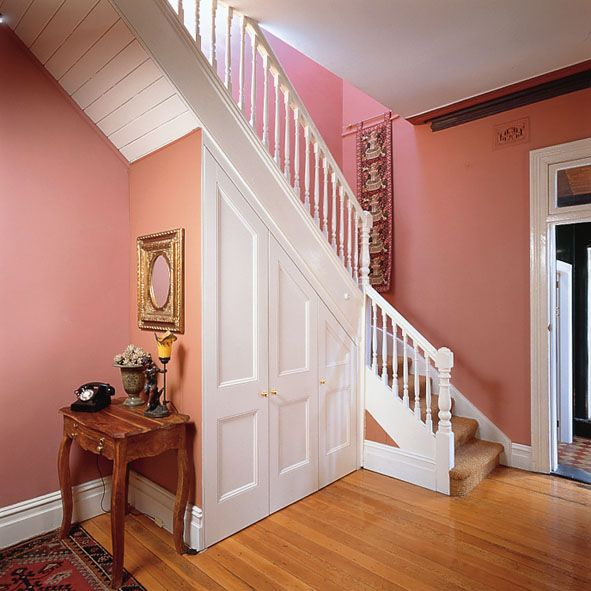 Under Stair Unit By Doors With Backbone For The Home