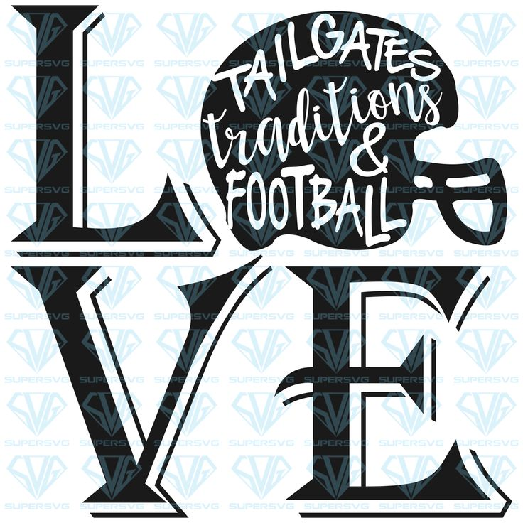 Download Football Love SVG Files For Silhouette, Files For Cricut ...
