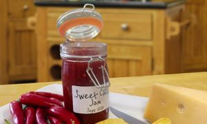 Delicious Sweet Chilli Jam is great served with a good strong cheddar, cold meats or on burgers and sausages.