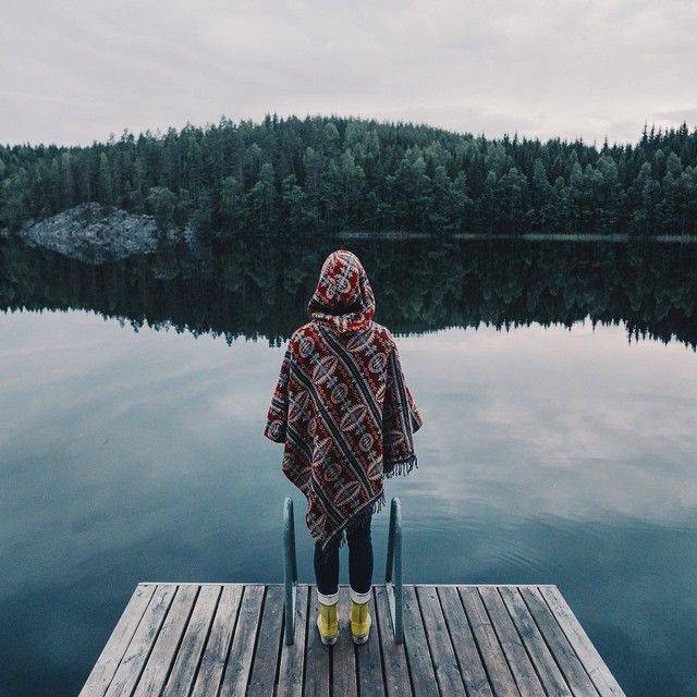 She's enjoing the serenity. #finland #suomi #luonto #nature #scandinavia #travel #adventure