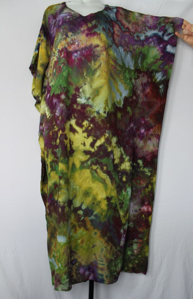 Tie dye Caftan One size fits most ice dye - Kimmy's Purple crinkle by A Spoonful of Colors Find this item on https://aspoonfulofcolors.com