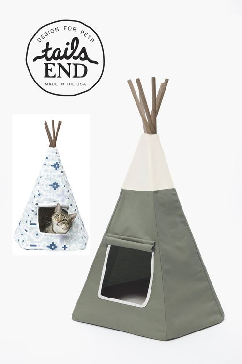 The new Army Green Algonquin Cat Teepee Cat bed Christmas gift
