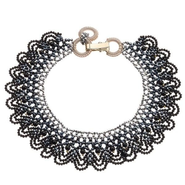 Ottaviani Bijoux Necklace with Black Beaded Lace