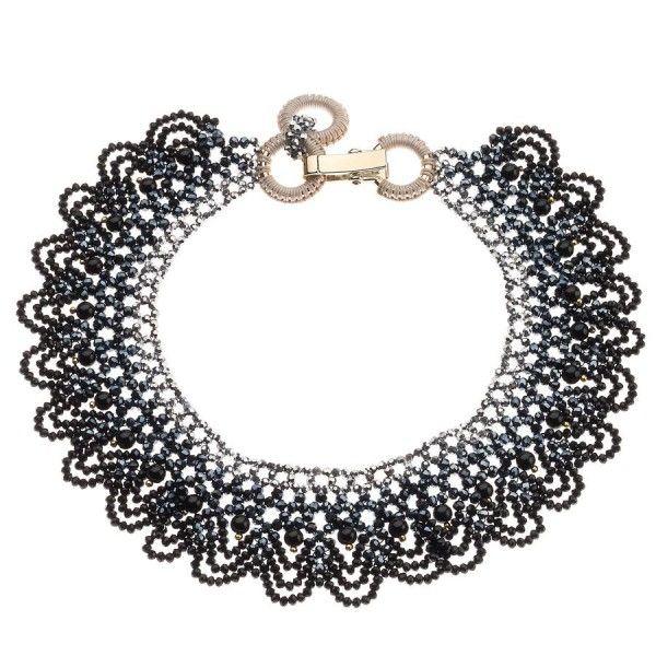 Ottaviani Bijoux Necklace with Black Beaded Lace
