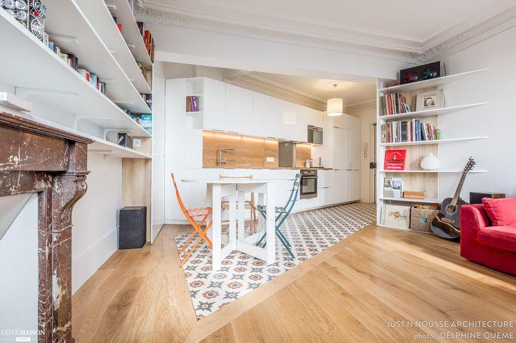 Création d'une chambre supplémentaire dans un appartement haussmannien.