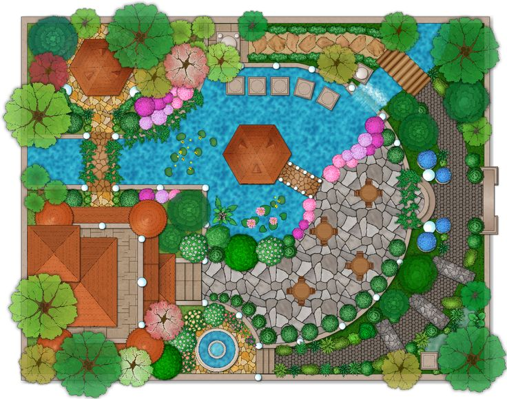 landscape and garden design plan example