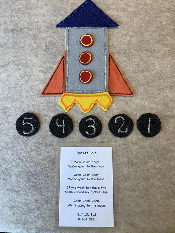Rocket ship felt story | Space | Felt stories, Flannel board stories