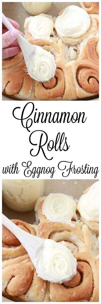 Cinnamon Rolls with Eggnog Frosting on www.cookingwithruthie.com are that added extra touch to make your holiday breakfast merry!