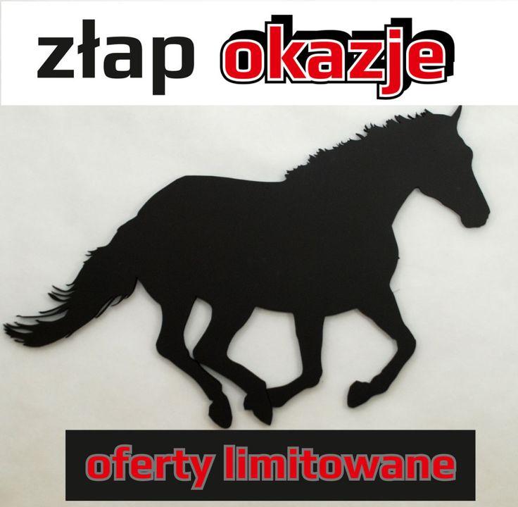 Czarny koń – dekoracja 3D