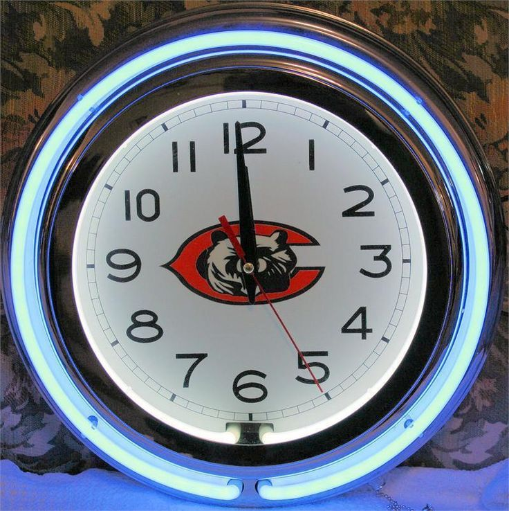Chicago Bears Neon Clock NFL New Quartz Lifestyle Lighting