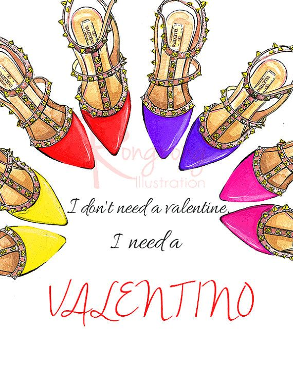 He encontrado este interesante anuncio de Etsy en https://www.etsy.com/es/listing/225052520/i-need-a-valentino-shoes-art