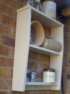 'Jessie'  by www.meadow-made-vintage.co.uk  Simple lines on this shelving unit gives even more scope in its uses.