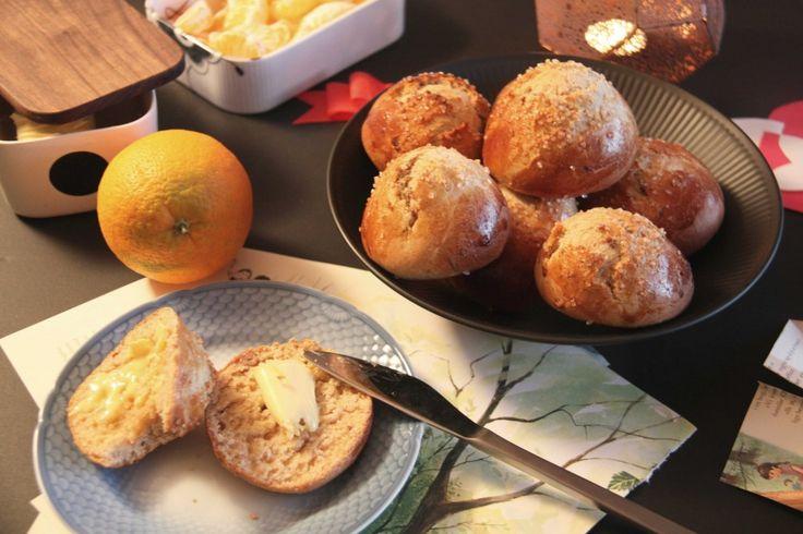 Juleboller med appelsin og marcipan