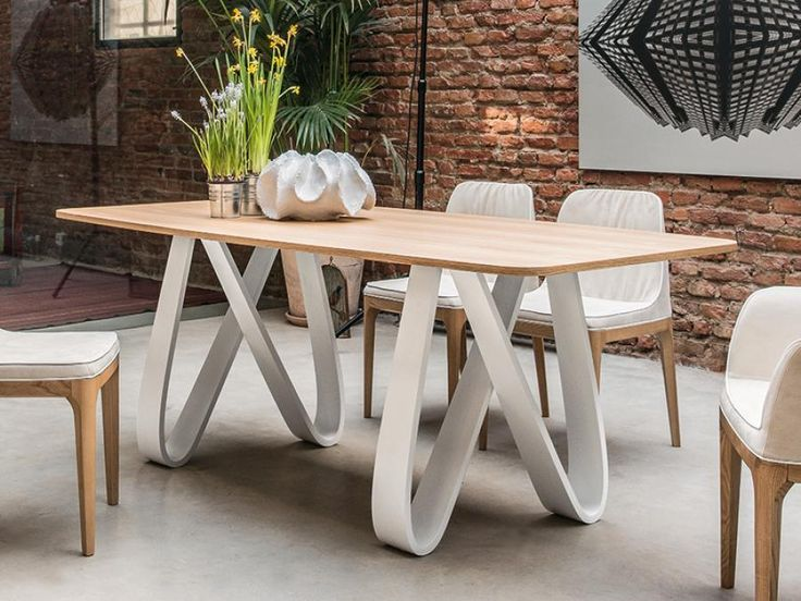 Modern Wooden Rectangular Butterfly Dining Table in a Choice of Finishes by Tonin Casa