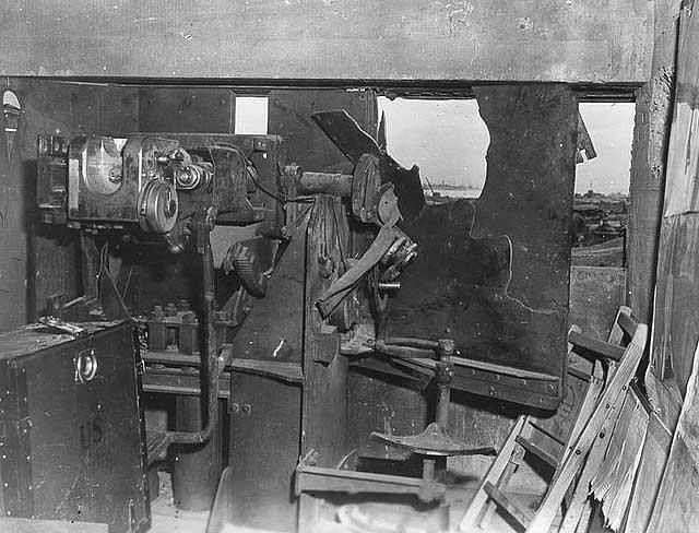 German 50 Mm Anti Tank Gun: Inside Of Wrecked German 50mm Anti-tank Gun Bunker, German