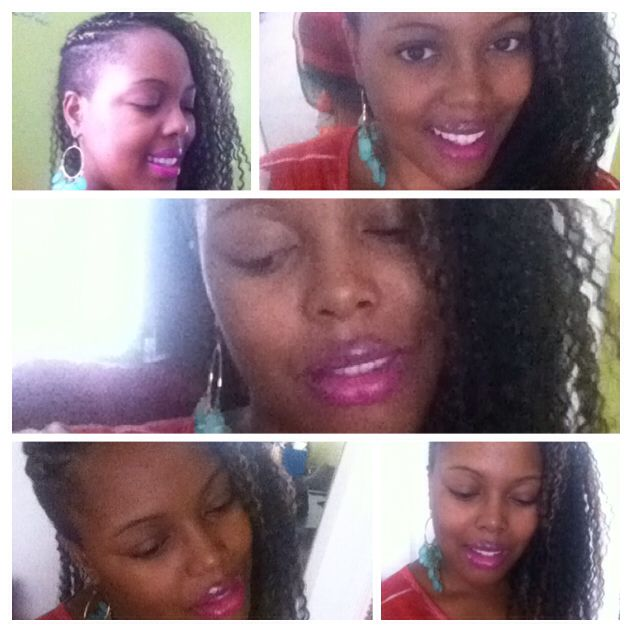 Crochet Braids On One Side : Crochet braids using Brazilian Braid hair by Freetress. I added two ...