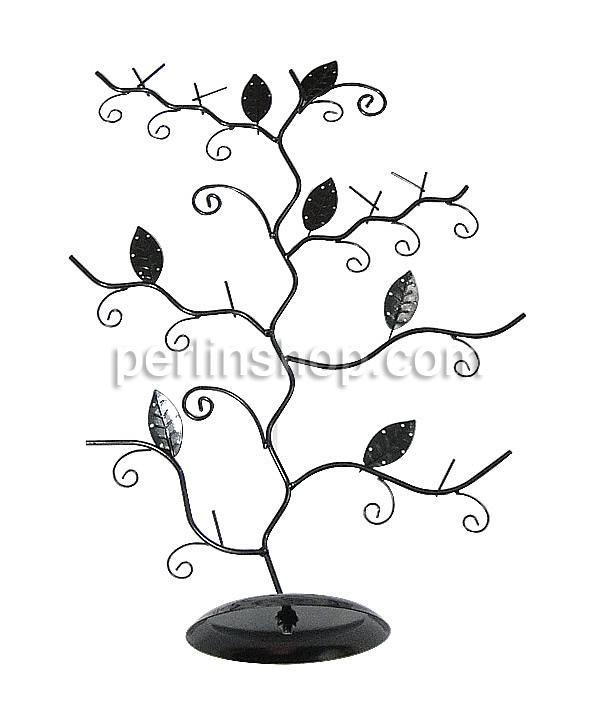 Eisen Ohrringständer, Baum, Spritzlackierung, schwarz, frei von Nickel, Blei & Kadmium, 360x550x6mm, 160mm, 3Stücke/Gruppe, verkauft von Gru...