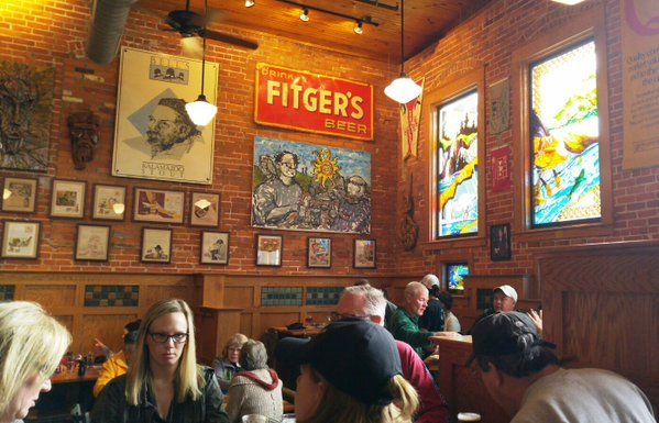 Bell's Brewery/Eccentric Cafe in Kalamazoo, MI.  Just one of the many breweries in the area worth visiting.  #bellsbeerbrewery #kalamazoo #brewerytour