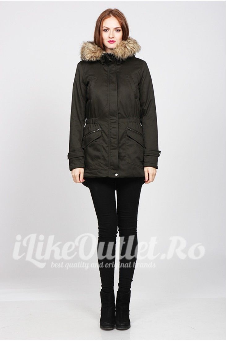 ONLY, winter jacket with fur collar