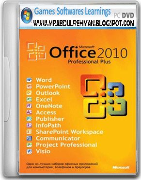 Microsoft Office Professional 2010 includes Microsoft Office Word 2010, MS Office Outlook 2010, Microsoft Office One Note 2010,