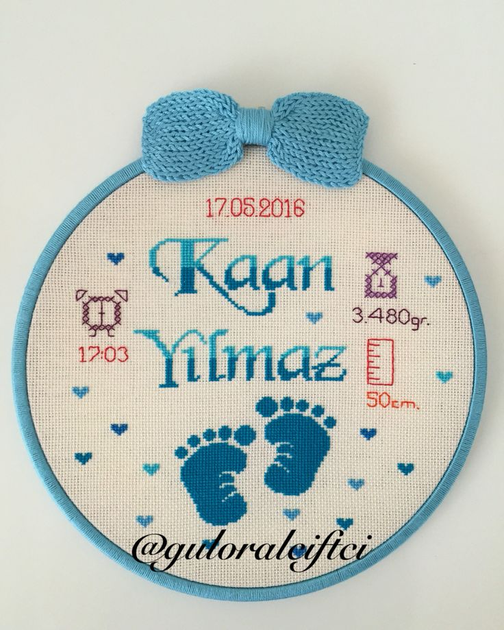 Kanaviçe Bebek panosu cross stitch @guloralciftci