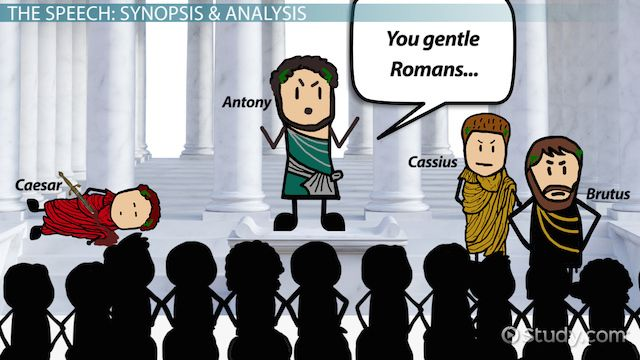 This lesson analyzes the speech given by Mark Antony over Caesar's body in Shakespeare's 'Julius Caesar.' Having received permission from Caesar's...