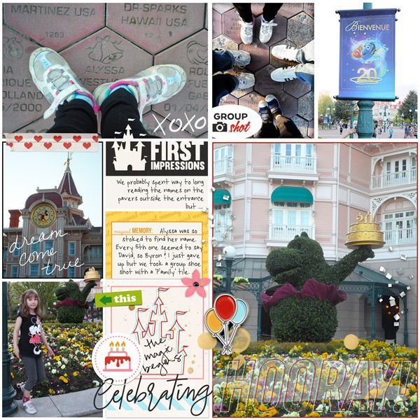 DLP 20th celebration pocket page by Justine with The Lilypad products #projectmouse