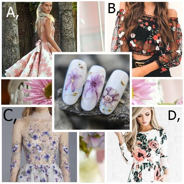 Which dress fits this manicure? My choice is C. :)