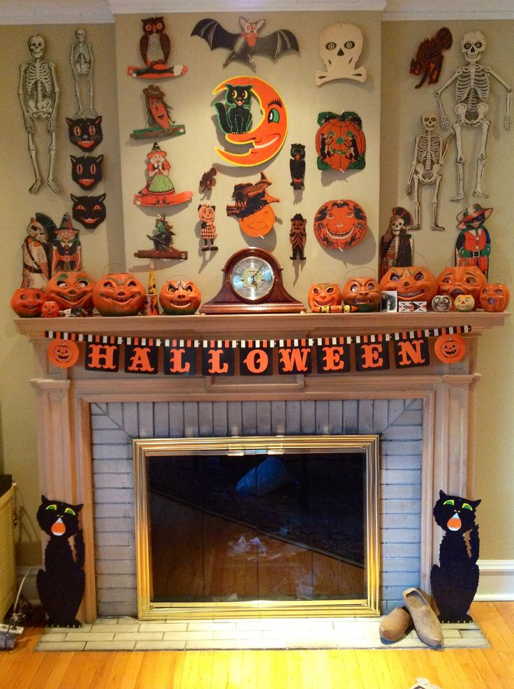 Vintage Halloween decoration collection