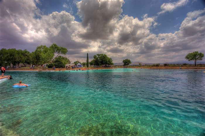 11. But there's also a lesser-known (and much bigger) one in Balmorhea State Park in Toyahvale - it's the WORLD'S largest spring-fed swimming pool!