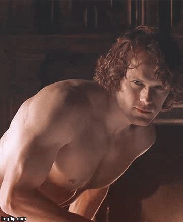 Outlander - Season 3, Claire's memory of Jamie. Sam Heughan is smokin' hot as James Alexander Malcom MacKenzie Fraser - AKA JAMMF!